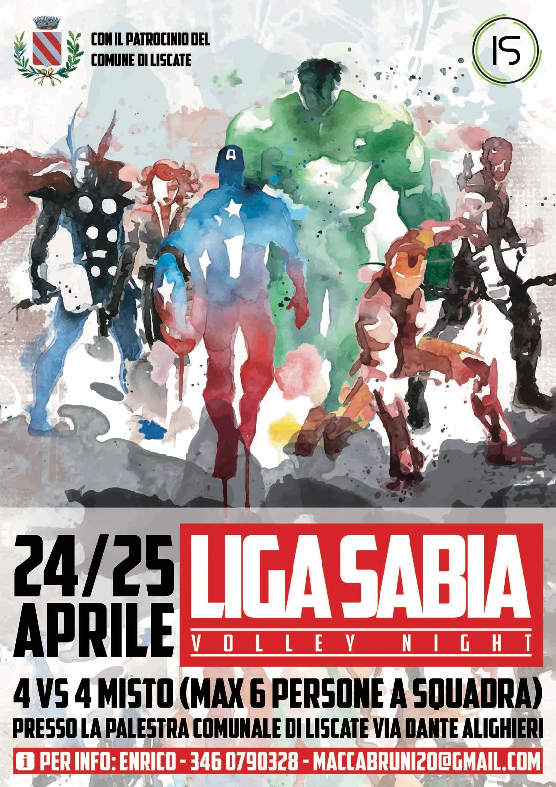 Locandina Volley Night 24 e 25 aprile 2018