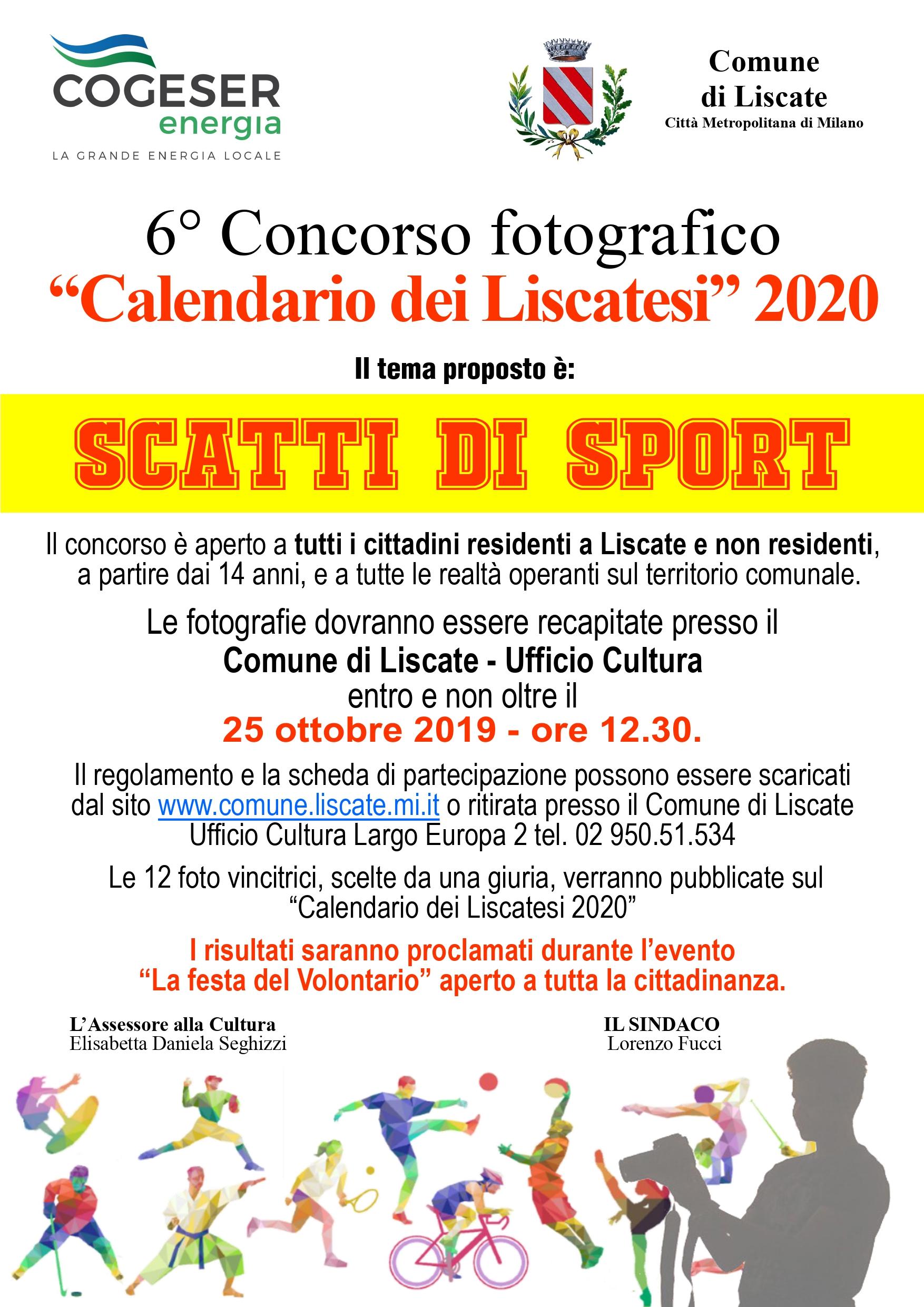 Anno Calendario 2020.6 Concorso Fotografico Il Calendario Dei Liscatesi Anno